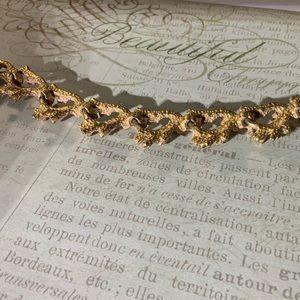 Goldtone Coral Bracelet 1950s vintage beauty